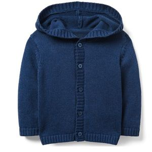 Janie and Jack Hooded Cardigan